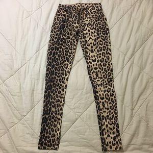 Denim - Animal print stretchy pants jeans size XS 24